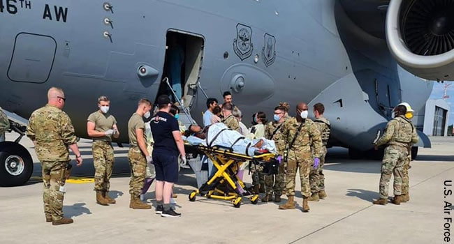 Afghan Woman Gives Birth on U.S. Evacuation Plane